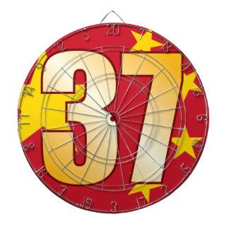 37 CHINA Gold Dartboard