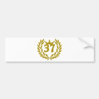 37-real-laurel-crown bumper sticker