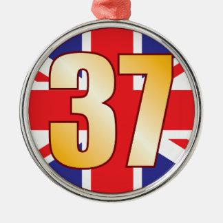 37 UK Gold Christmas Ornament