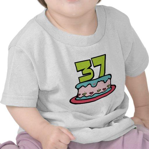 37 Year Old Birthday Cake Shirt