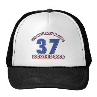 37 years Old birthday designs Hat