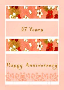 Happy 37th Anniversary Gifts Gift Ideas Zazzle Uk