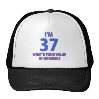 37th birthday designs trucker hat