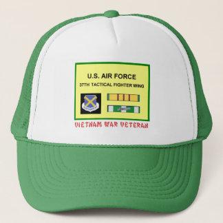 37TH TACTICAL FIGHTER WING VIETNAM WAR VET TRUCKER HAT