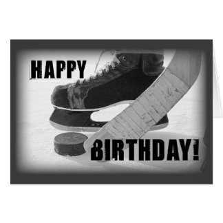 3816 Hockey Birthday Card