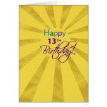 3823 13th Birthday Girl Greeting Card