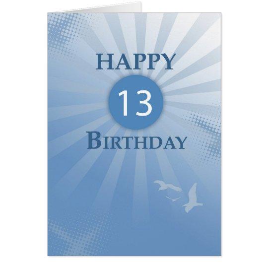 3824 13th Birthday Boy Greeting Card