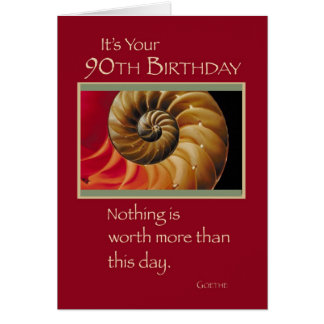 3826 90th Birthday Spiral Card