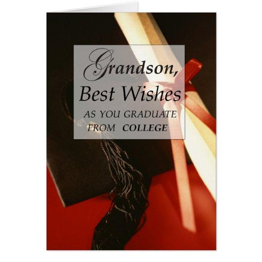 3839 Grandson College Graduation Card