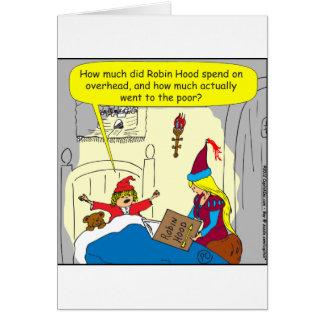 383 robin hood overhead cartoon greeting card