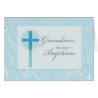3881 Grandson Baptism Card