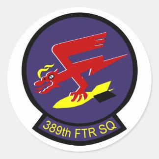 389th Fighter Squadron Classic Round Sticker