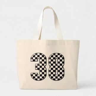 38 auto racing number jumbo tote bag