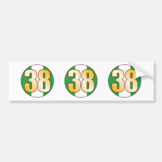 38 NIGERIA Gold Bumper Sticker