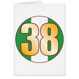 38 NIGERIA Gold Greeting Card
