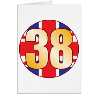 38 UK Gold Greeting Card