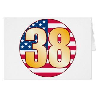 38 USA Gold Greeting Card