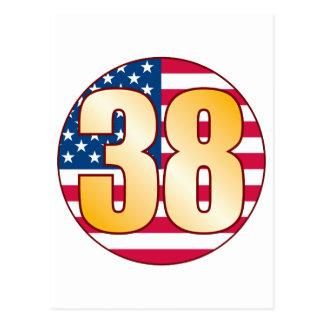 38 USA Gold Postcard