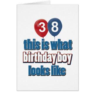 38 year old birthday designs greeting card