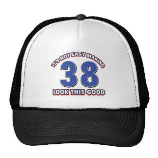 38 years birthday designs hats
