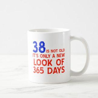38 years birthday designs basic white mug