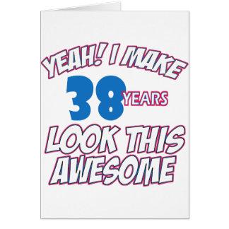 38 YEARS OLD BIRTHDAY DESIGNS CARD