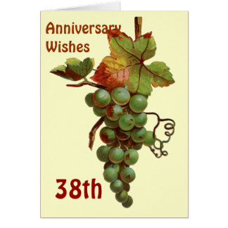 38th Anniversary wishes customiseable Card