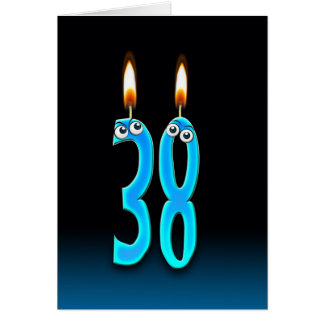 38th Birthday Candles Greeting Card