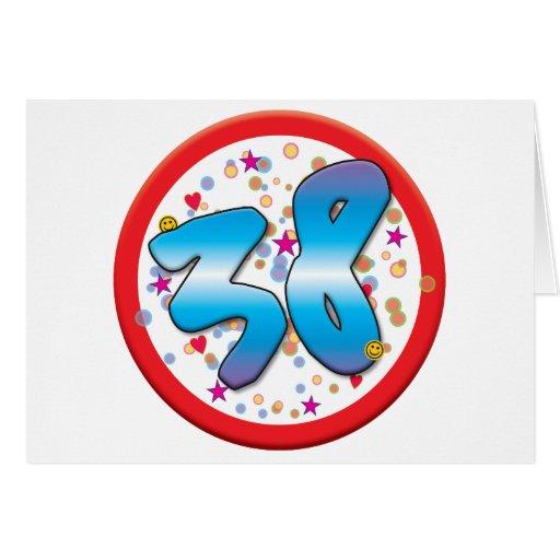 38th Birthday Greeting Cards