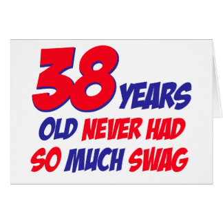 38th birthday designs greeting card