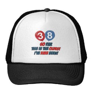 38th birthday designs hat