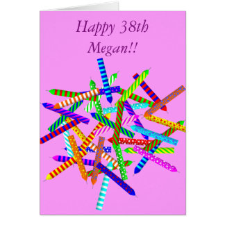 38th Birthday Gifts Greeting Card