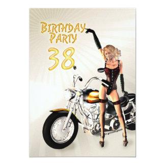 38th Birthday party Invitation