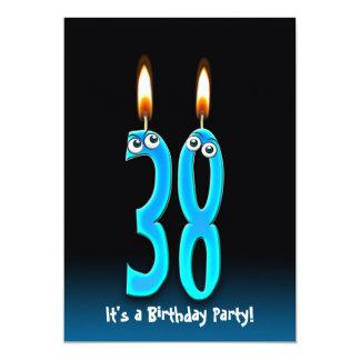 """38th Birthday Party Invite 5"""" X 7"""" Invitation Card"""