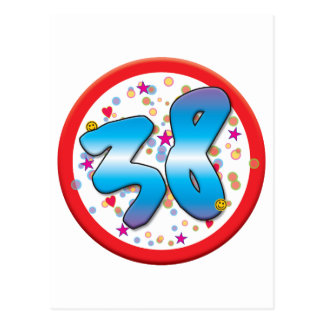 38th Birthday Post Card