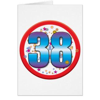 38th Birthday v2 Card
