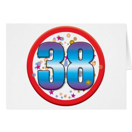 38th Birthday v2 Greeting Card