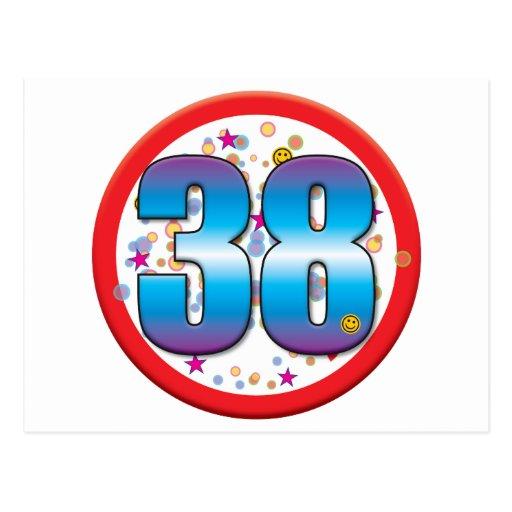 38th Birthday v2 Postcard