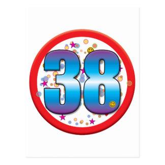 38th Birthday v2 Post Cards