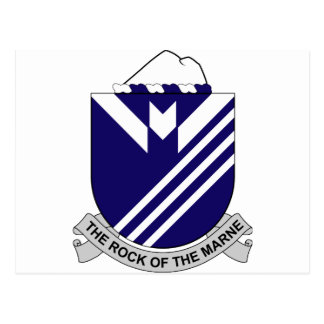 38th Infantry Regiment - The Rock Of The Marne Postcard