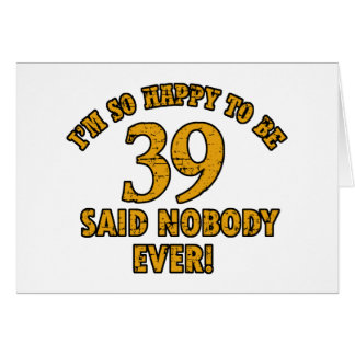 38th year old gifts greeting card
