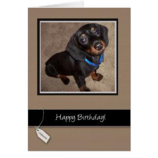 3913 Happy Birthday, Dog, Dachshund Card