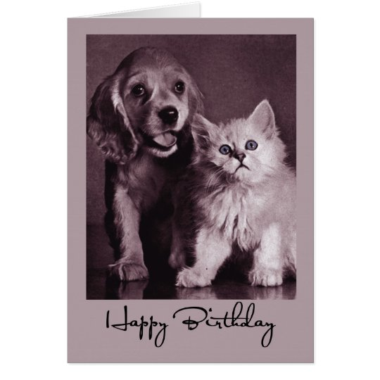 3915 Dog and Cat Birthday Card