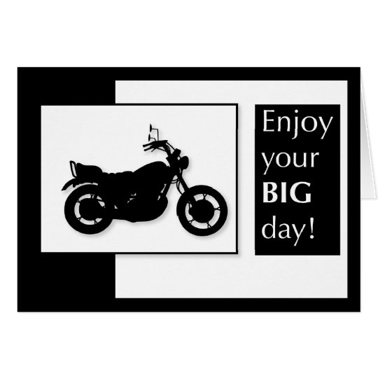 3920 Motorcycle Birthday Card