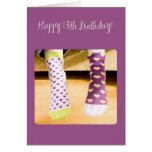3922 Crazy Socks, 13th Birthday Greeting Card