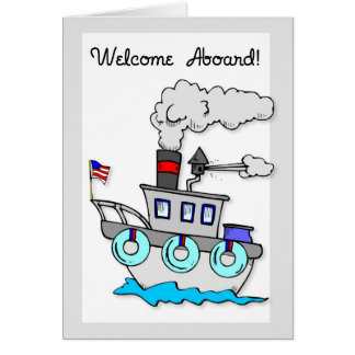 3939 New Employee Welcome Aboard Ship Greeting Card