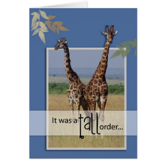 3966 Giraffe Job Well Done Card