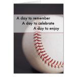 3970 Baseball Birthday Greeting Card