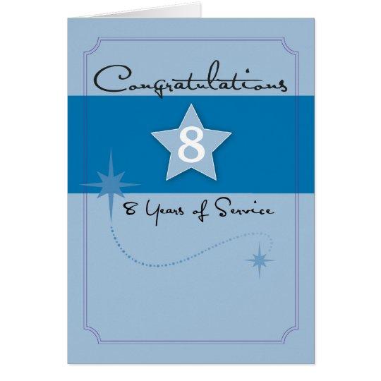 3990_8 Year Employee Anniversary Card