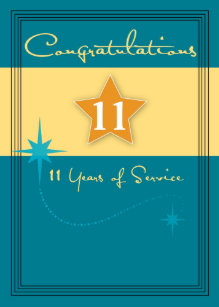 Years Of Service Congratulations Cards | Zazzle co uk